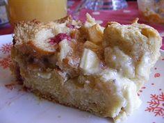 White Chocolate and Vanilla Bread Pudding