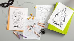 Free Printable Halloween Coloring Pages for Kids and Adults #Hallmark #HallmarkIdeas