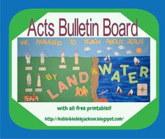 Paul's Friends Traveled To Teach About Jesus Bulletin Board with printables