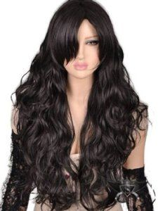 Black Gothic Lolita Long Wavy Animation Full Wig Fashion Cosplay Show Wig Styles, Long Hair Styles, Beauty Hair Extensions, How To Wear A Wig, Full Hair, Cosplay Wigs, Anime Cosplay, Synthetic Wigs, Remy Hair