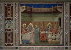 The Marriage at Cana 1305  GIOTTO di Bondone, forse diminutivo di Ambrogio o Angiolo, conosciuto semplicemente come Giotto (Vespignano, 1267 circa – Firenze, 8 gennaio 1337)  #TuscanyAgriturismoGiratola