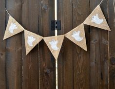 GHOST burlap banner for Halloween by LylaDee on Etsy