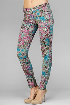 7 For All Mankind Garden Party Skin Legging $189