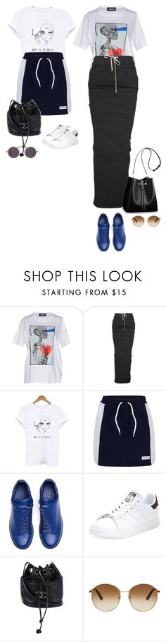 """Sporty"" by audrey-balt ❤ liked on Polyvore featuring Dsquared2, Rick Owens, Converse, Y's by Yohji Yamamoto, adidas, Louis Vuitton, Chanel and Gucci"
