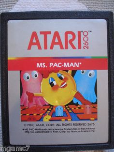 Ms. Pac-Man Atari 2600 Game from 1980's