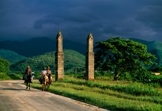 Somewhere in the valley of the sugarmills, Trinidad, Cuba. ( by Martha Gellhorn, National Geographic Magazine)