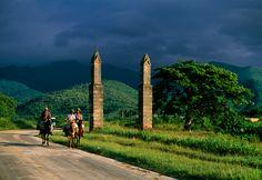 Somewhere in the valley of the sugarmills, Trinidad, Cuba. ( by Martha Gellhorn, National Geographic Magazine)