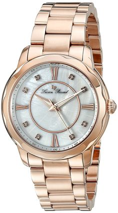 Lucien Piccard Women's LP-40000-RG-22MOP Balarina Rose Gold-Tone Stainless Steel Watch ** Learn more by visiting the image link.