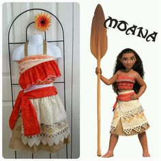 Boutique Custom Handmade Moana Inspired by TulipsLoveTurtles