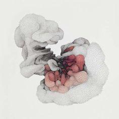 Korean surrealistic artist Jung-Yeo Min (b1979; Kwangju, South Korea) Jung So Min, Art Et Illustration, Illustrations, Lund, Beaux Arts Paris, Geometric Drawing, Lowbrow Art, Art Moderne, Pop Surrealism