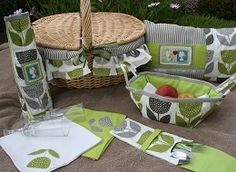 2015 Crafting Finalist: Jeanette House went for a seasonal design with this picnic pack. Hillarys Blinds, Picnic Baskets, Summertime, Competition, Crafting, Seasons, Diy, House, Collection