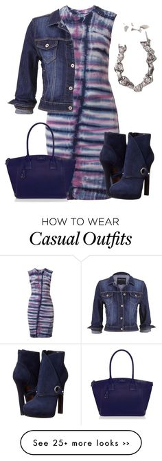 """Casual Dress and Denim Jacket"" by lchar on Polyvore featuring Raquel Allegra, maurices, Alexander McQueen, Sachin + Babi and Kate Spade"