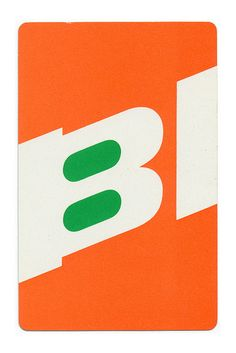 Alexander Girard Playing card for Branniff Airlines. c. 1968.