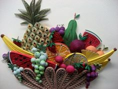 "all things paper: Rolled Paper Art -- ""Fruitful"" by Licia Politis"