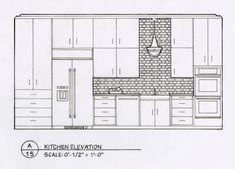 Class design exersize sketching and planning best of detailed elevation drawings kitchen bath bedroom on behance Coupes Architecture, Interior Architecture Drawing, Drawing Interior, Interior Design Sketches, Interior Paint, App Design, Layout Design, Home Design, Class Design