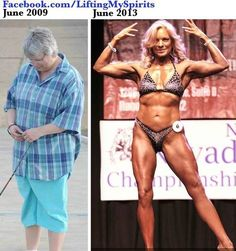 """fitness-and-fierceness: """"blondesquats: """" dancewithmydemons: """" Tammy White! Her transformation has motivated thousands! ……She recently competed at the NPC Nevada State. Be sure to follow this amazing... Before After Weight Loss, Weight Loss Transformation, Male To Female Transformation, Fit Girl Motivation, Weight Loss Motivation, Runners Motivation, Fitness Goals, Fitness Diet, Health Fitness"""