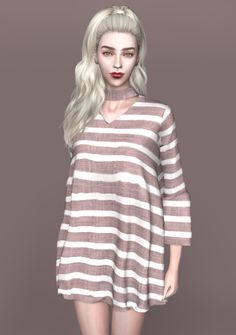 spectacledchic-sims4   [spectacledchic-sims4] Choker Dress I know you all...