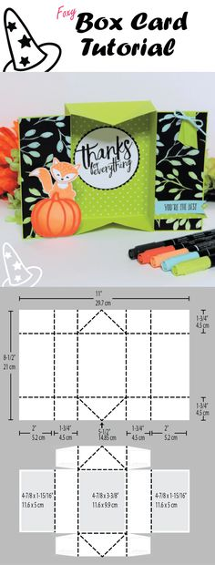 Foxy Box Card Tutorial by Natalie Lapakko with Foxy Friends stamps and Patterned Pumpkin Thinlit Dies from Stampin' Up!