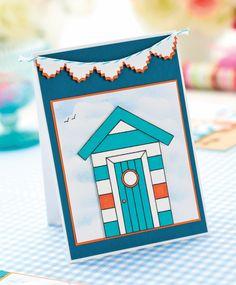Beach Hut Cards, summer card beachy, happy, good life, banner