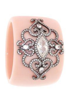 HauteLook | Angelique de Paris Jewelry: Goa Ballet Slipper Cuff | pink, crystal accents