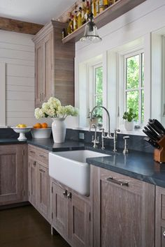 limed oak White-washed Cabinets Design, Pictures, Remodel, Decor and Ideas - page 5