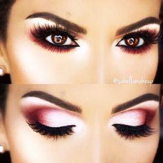 Hooded Eye Makeup – Great Make Up Ideas Red Eye Makeup, Dramatic Eye Makeup, Hooded Eye Makeup, Dramatic Eyes, Eye Makeup Tips, Beauty Makeup, Makeup Products, Makeup Steps, Eyeshadow For Hooded Eyes
