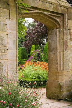 A fabulous Secret Garden in Nymans, West Sussex UK by Nigel Burkitt. England has the best stonework and the best gardens, doesn't it?
