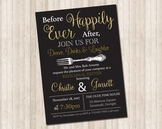 Before Happily Ever After Rehearsal Dinner Invitation by PureDesignGraphics on Etsy Rehearsal Dinner Invitations, Rehearsal Dinners, Happily Ever After, Savannah Chat, Laughter, Etsy