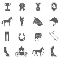 Vector Horse icons set.. Clothes Icons. $5.00