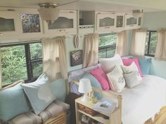 Vintage Camper Interior Remodel Ideas - Best Of Vintage Camper Interior Remodel Ideas, 27 Amazing Rv Travel Trailer Remodels You Need to See Rvshare Camper Interior Design, Vintage Camper Interior, Campervan Interior, Rv Interior, Interior Ideas, Modern Interior, Interior Lighting, Motorhome Interior, Campervan Ideas
