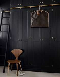 15 Gorgeous Scandinavian Modern Furniture & Interiors - Di Home Design Diy Wardrobe, Bedroom Wardrobe, Wardrobe Doors, Wardrobe Design, Black Wardrobe Closet, Wardrobe Wall, Wardrobe Furniture, Furniture Nyc, Wardrobe Ideas