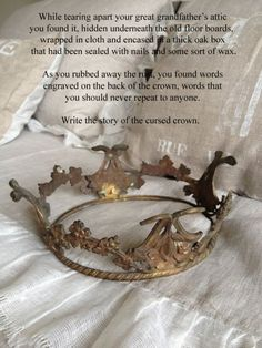 writing prompt: the cursed crown in the attic
