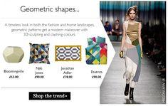 GEOMETRIC SHAPES - Amara - trends translating from fashion AW14