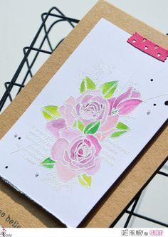 "Mary: #Tampons et #matrices de coupe #dies #4enSCRAP ""#roses"" #fleurs #scrapbooking #DIY #loisirscréatifs #carte #carterie Mini Albums, Nature Rose, Tampons Transparents, Roses, Diy, Happy Moments, Bonheur, Ink Stamps, Cutaway"