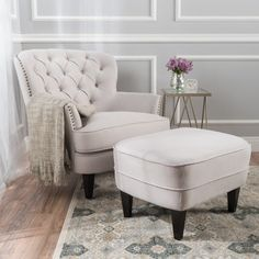 You'll love the Heywood Armchair and Ottoman at Birch Lane - With Great Deals on all products and Free Shipping on most stuff, even the big stuff. Living Room Furniture, Home Furniture, Living Room Decor, Rustic Furniture, Furniture Outlet, Furniture Deals, Online Furniture, Antique Furniture, Outdoor Furniture