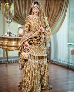 Rida Shah looks like a vision in couture bridal from the collection. Pakistani Wedding Outfits, Pakistani Wedding Dresses, Pakistani Dress Design, Asian Bridal Dresses, Bridal Outfits, Indian Dresses, Indian Outfits, Nikkah Dress, Shadi Dresses