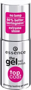 the gel nail polish top coat - essence cosmetics