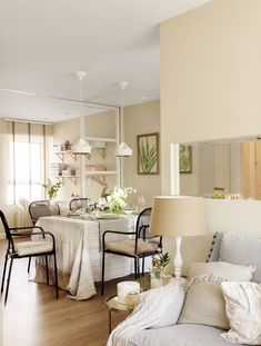 """If you look at the """"before"""" pictures, you can't tell this Spanish apartment from our familiar Soviet-style flats (especially the kitchen). But the ✌Pufikhomes - source of home inspiration Decor, Cozy Interior, Living Room Trends, Furniture, Furniture Arrangement, Room Layout, Interior Design, Home Decor, Home Deco"""