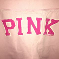 PINK Sweatpants Very cute PINK sweatpants that are in like new conditions. It doesn't say what size but I think it's close to a small or medium. PINK Victoria's Secret Pants Ankle & Cropped
