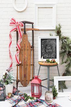 Etsy の Happy Holidays Sign Holiday Decor Holiday by LilyandVal