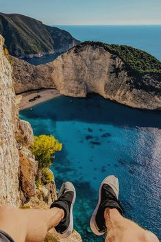 Cliff Jumping Shipwreck Beach in Zakynthos, Greece Top Travel Destinations, Places To Travel, Places To Go, Greece Vacation, Greece Travel, Adventure Awaits, Adventure Travel, Travel Pictures, Travel Photos