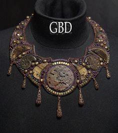 Copper Rock Dragon necklace by gbdreams.deviantart.com on @DeviantArt