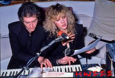 Stevie Nicks and Benmont Tench, photo by HWIII