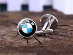 BMW Cufflinks,Car Logo Cuff link, Men Gifts, Father's Day gifts, Silver mens Cuff links,19mm Round