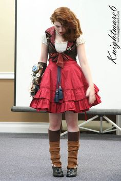 Steampunk In Lolita Fashion Panel by knightmare6 on Flickr.
