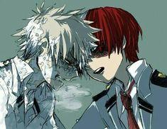 Todoroki Shouto x Bakugou Katsuki Boku No Hero Academia, My Hero Academia Manga, I Love Anime, Anime Guys, Manga Anime, Kirishima Eijirou, Image Manga, Anime Ships, Haikyuu