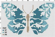 Butterfly Cross Stitch, Cross Stitch Bird, Cross Stitch Flowers, Cross Stitch Embroidery, Embroidery Patterns, Cross Stitch Pattern Maker, Modern Cross Stitch Patterns, Cross Stitch Designs, Cross Stitch Bookmarks