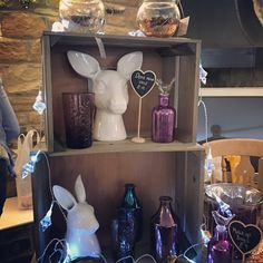Deer and rabbit head Vases,bottles and tea light holders love love love! Www.lavendernook.co.uk