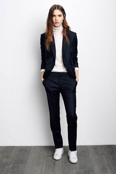casual suit. love the white sneakers to complete the look