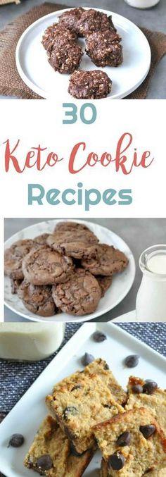 30 Keto Cookie Recipes   Peace Love and Low Carb #keto #ketocookies #ketorecipes